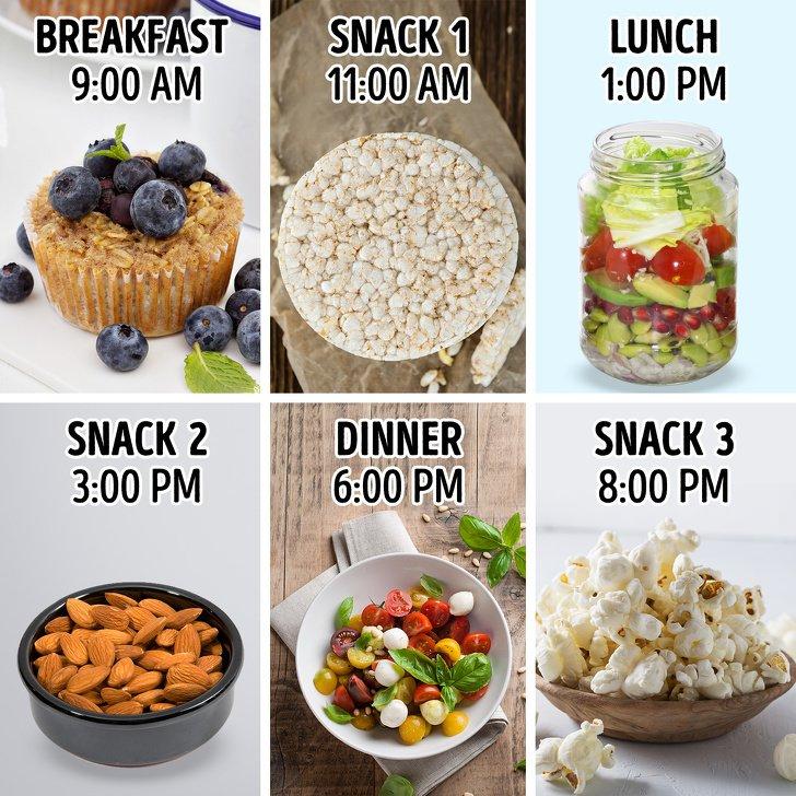 خوردن بیش از 3 وعده غذا در روز