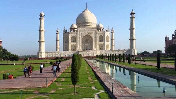 تاج محل هند یکی از عجایب هفت گانه و جلوه گر شکوه معماری جهان