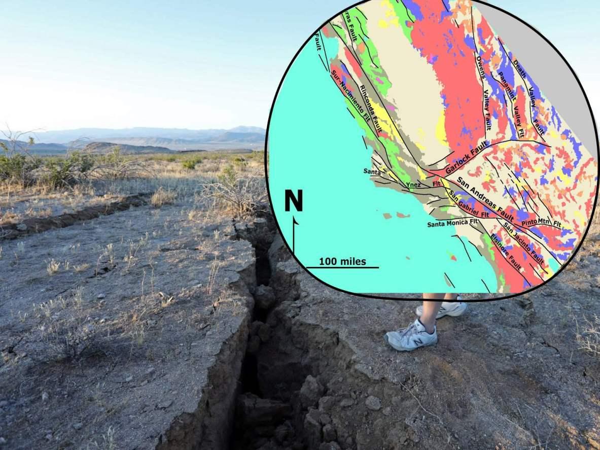 اسرار دو زلزله بزرگ کالیفرنیا-شکستگی زمین در نتیجه جابجایی صفحات تکتونیکی زمین