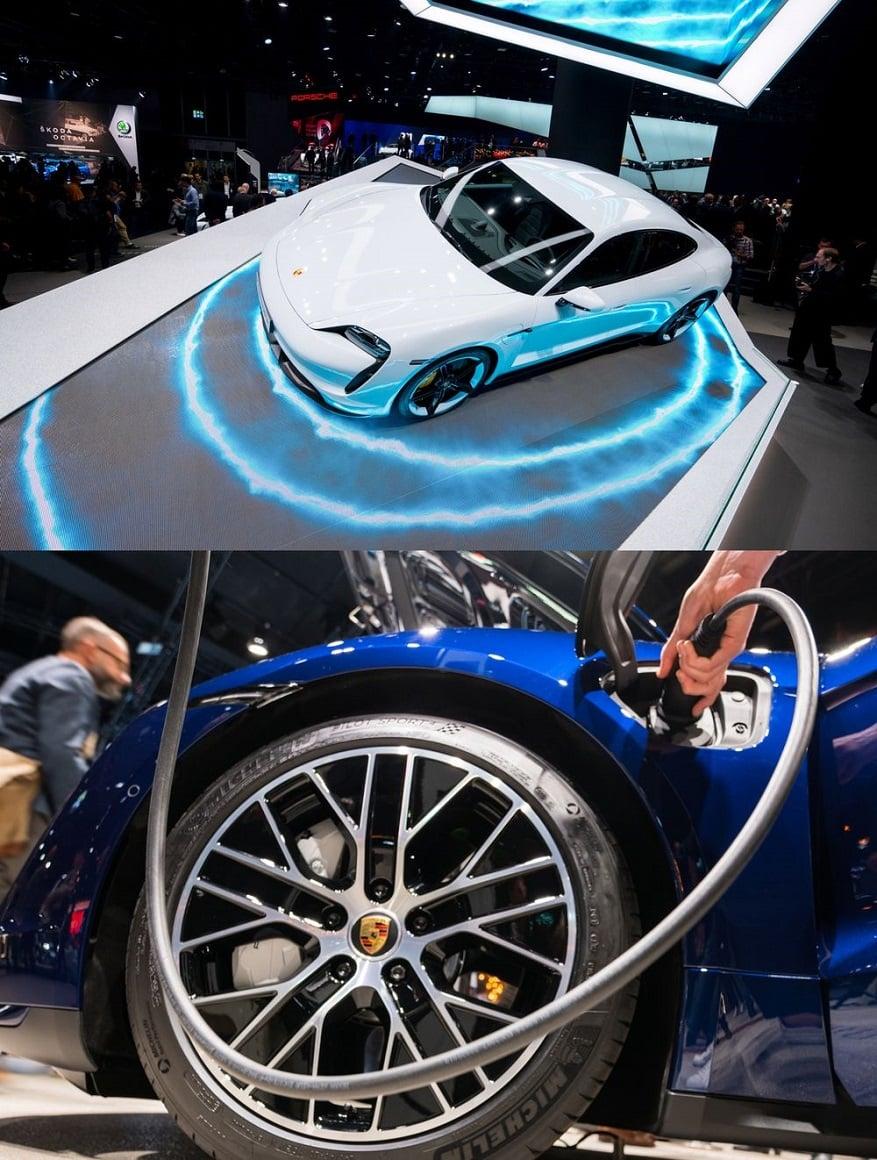 نمایش قدرت خودروهای برقی Porsche Taycan