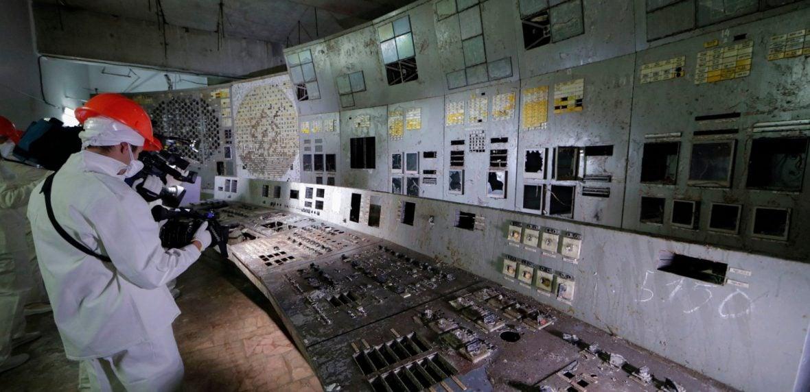 اتاق کنترل رآکتور شماره 4 چرنوبیل