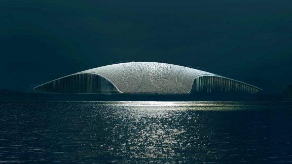 یک شاهکار معماری با طرحی از وال در کنار اقیانوس چشمها را خیره خواهد کرد