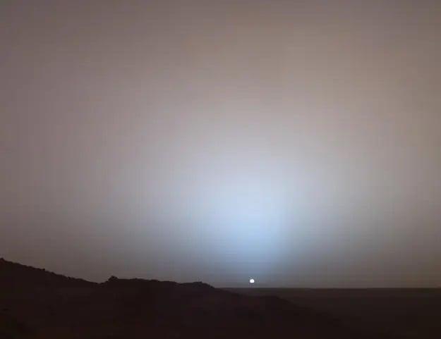 خورشید از سطح مریخ