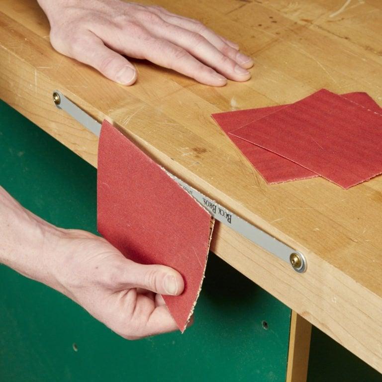 نجاری زیرکانه خانگی - بریدن ورق سمباده