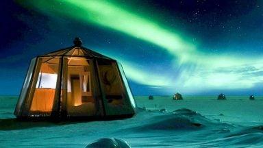 ایگلوی لاکچری در قطب شمال