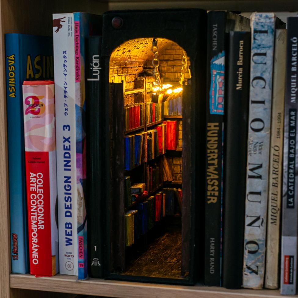 فضاهای خیالی درون قفسههای کتاب