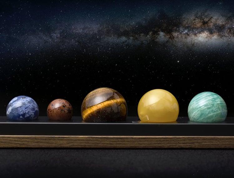 مجموعه دکوری رومیزی سیستم سیارهای