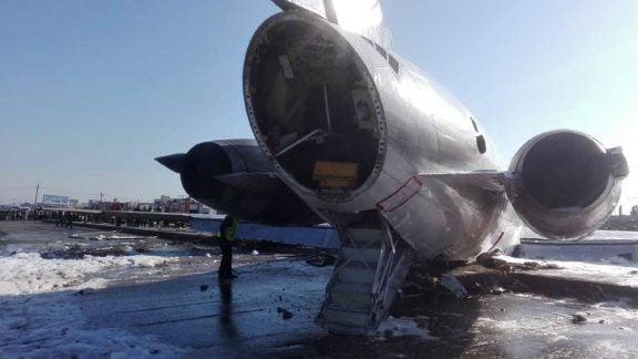 نقص فنی پرواز کاسپین: خروج یک هواپیمای مسافربری از باند هنگام فرود در بندر ماهشهر